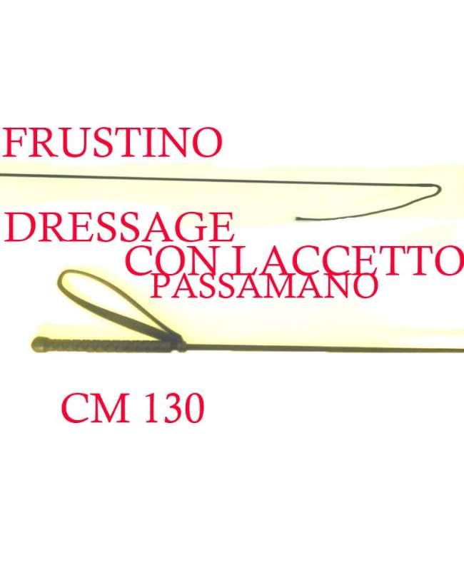 FRUSTINO DA DRESSAGE MANICO IN GOMMA E PASSAMANO