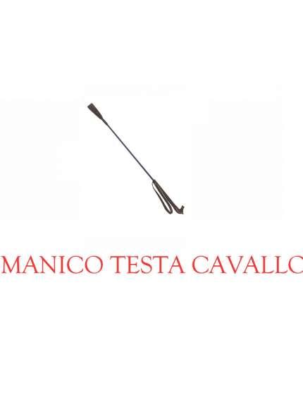 FRUSTINO DA EQUITAZIONE TESTA DI CAVALLO E PASSAMANO