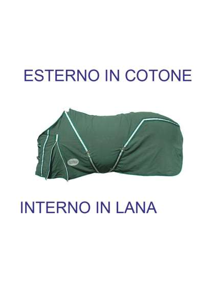 COPERTA DA BOX IN COTONE INTERNO LANA