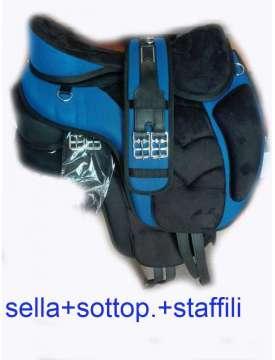 SELLA DA TREKKING SINTETICA COMPLETA DI ACCESORI-11364