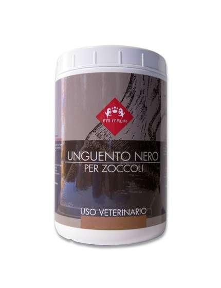 GRASSO UNGUENTO PER ZOCCOLI COLORE NERO FM ITALIA DA 1000 ML