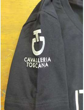 T-SHIRT DONNA CAVALLERIA TOSCANA LOGO FISE-13390