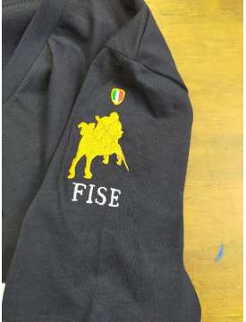 T-SHIRT DONNA CAVALLERIA TOSCANA LOGO FISE-13391