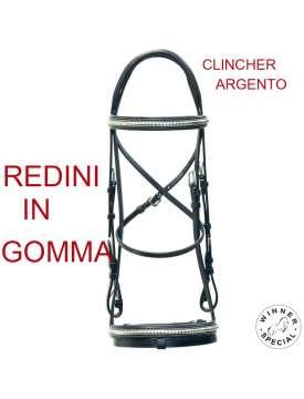 TESTIERA INGLESE CUOIO CLINCHER ARGENTO-13585