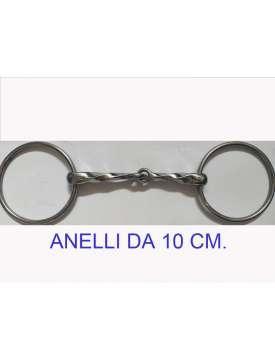 FILETTO TORCIGLIONE CON ANELLI DA 10CM-16016