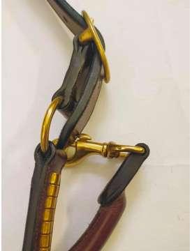 CAVEZZA IN CUOIO INGLESE GOLD CON CLINCHER OTTONE-16343