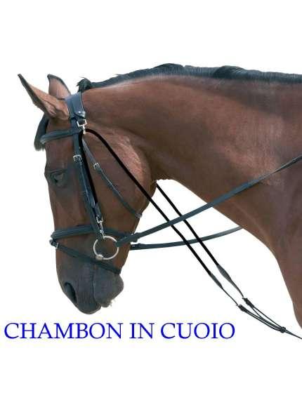 CHAMBON IN CUOIO CON REGOLAZIONE FIBBIE INOX