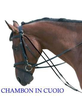CHAMBON IN CUOIO CON REGOLAZIONE FIBBIE INOX-2454