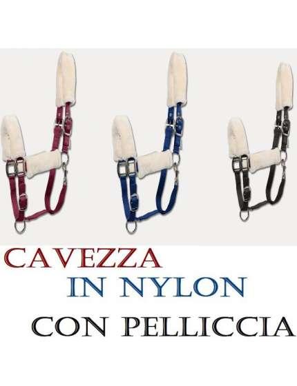 CAVEZZA IN NYLON CON PELUCHE PELLICCIA
