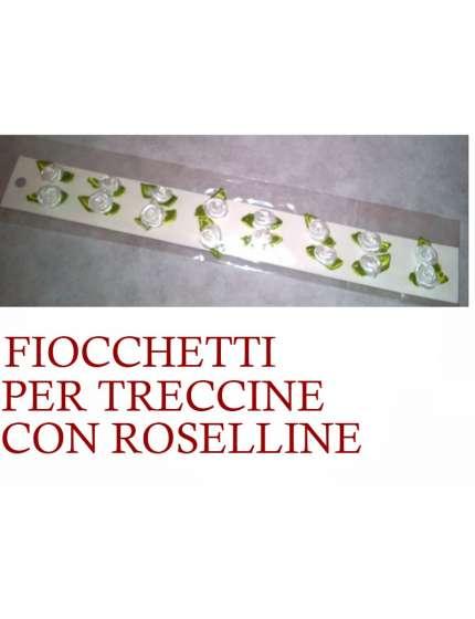 FIOCCHETTI PER TRECCINE CON ROSELLINE