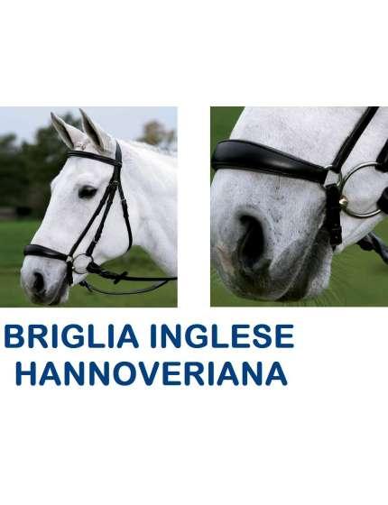 BRIGLIA INGLESE IN CUOIO CAPEZZINO HANNOVER