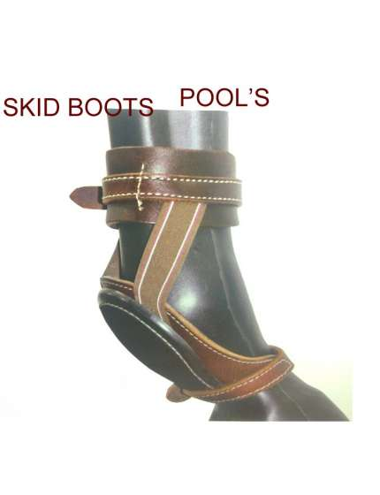SKID BOOTS POOLS IN CUOIO