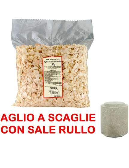 AGLIO A SCAGLIE E RULLO DI SALE DA 500GR