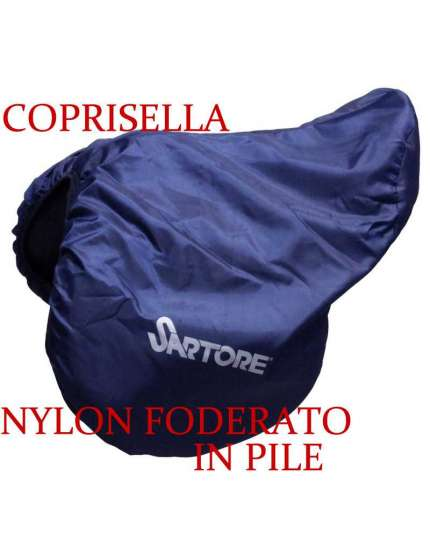COPRISELLA IN NYLON FODERATO IN PILE ADATTO PER SELLA INGLESE