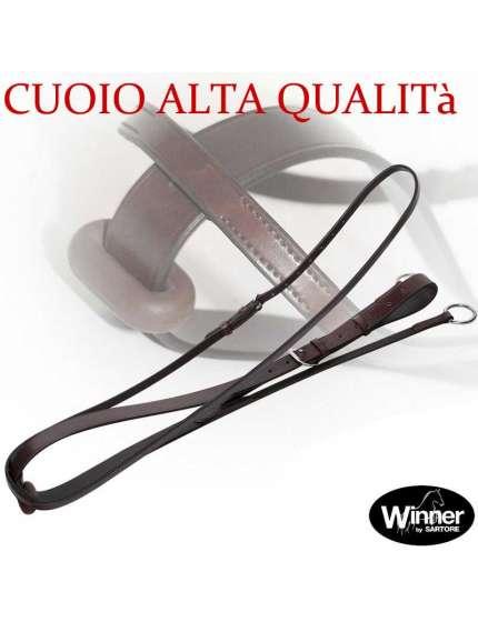 MARTINGALA INGLESE A COLLIER IN CUOIO ITALIANO DI ALTA QUALITà