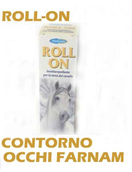ROLL-ON CONTORNO OCCHI FARNAM ANTIMOSCHE ADATTO A PONY E CAVALLI