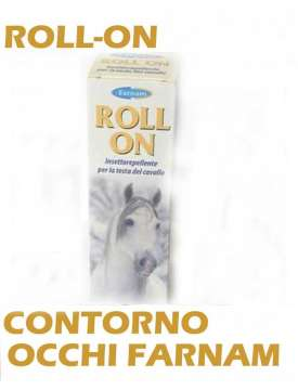 ROLL-ON CONTORNO OCCHI FARNAM ANTIMOSCHE ADATTO A PONY E CAVALLI-8167
