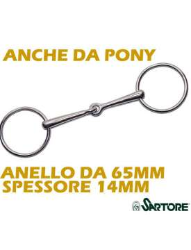FILETTO AD ANELLI INOX CANNONE PIENO DA 14MM-8485
