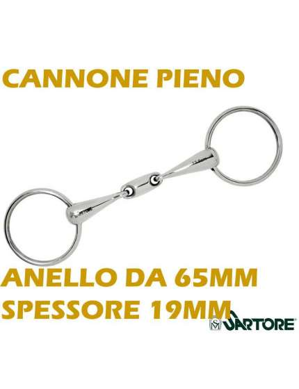 FILETTO AD ANELLI CON OLIVA CENTRALE E CANNONE DA 19MM